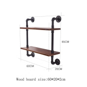 TRRE@ American Retro Iron Water Pipe Shelves Wall Hanging Bar Restaurant Creative Wall Decorations Shelf Accessories