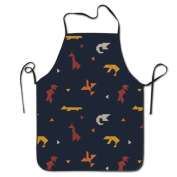 Animal Paper Cutting Art Cooking Apron Kitchen Apron Bib Aprons Chief Apron Home Easy Care For Men Women