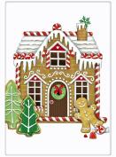 Festive Christmas Gingerbread House 100% Cotton Flour Sack Dish Tea Towel - Mary Lake Thompson 80cm x 80cm