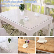 PVC Waterproof Soft Glass PlasticTablecloth Transparent Table Cloth Mat Table Runner Kitchen Dining Table Decoration 120*80cm