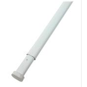 White Oval Spring Tension Rod. 1.6cm Diamter. Adjustable From 46cm - 70cm