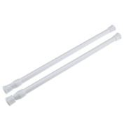 """Spring Loaded Extendable Rods Voile Net Curtain Tension Rod Pole Rail 30-50cm/11.8""""-19.7"""""""