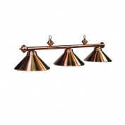3-Light Billiard Fixture in Antique Copper Finish