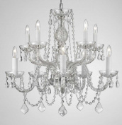 "Chandelier Lighting Crystal Chandeliers H25"" X W24"" 10 Lights"