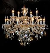 Generic Island Lights Crystals Chandelier 15 Lights Ceiling Fixtures Colour Cognac
