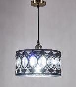 New Legend Antique Black Finish Modern Crystal Chandelier Pendant Hanging Lighting Fixture