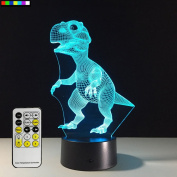 Animal Night Light Dinosaur 7 Colours Change with Remote Control Good Night light for Nursery or Kids Bedroom by Easuntec
