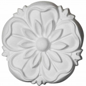 Ekena Millwork ROS03X03LY 3 20cm OD x 1.3cm P Lyre Rosette, White