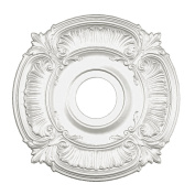 Focal Point 81018 46cm Acanthus Medallion 46cm by 46cm by 1.6cm , Primed White