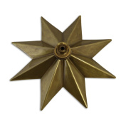 RCH Hardware CN-11-AB Solid Brass Decorative Star Shaped Ceiling Canopy Medallion Accent for Chandeliers and Pendant Lighting with Matching Screw Collar and Loop