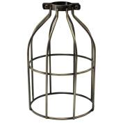 iLightingSupply 37-0107-30 Cage Premium Clamp-On Bulb Cage - Open Style - Antique Brassantique Brass
