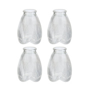 Aspen Creative 23003-4 Transitional Style Replacement Glass Shade, 5.4cm Fitter Size, 13cm High x 9.5cm Diameter, 4 Pack