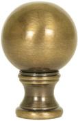 Antique Brass Sphere Finial