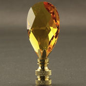 Topaz Crystal Lamp Finial - 7cm