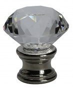 Urbanest Crystal Duchess Lamp Finial, Brushed Steel Base