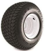 KENDA K500 SUPER TURF 18X850-8 tyre MOUNTED ON 8X7, 4 HOLE WHITE WHEEL