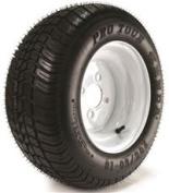 KENDA K399 PRO TOUR RADIAL 205/50-10 tyre (4 PLY) MOUNTED ON 10X6, 4 HOLE WHITE WHEEL