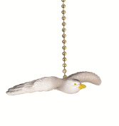Flying Seagull Decorative Ceiling Fan Light Dimensional Pull Clementine Design