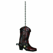 River's Edge Cowboy Boot Fan Pull, Brown