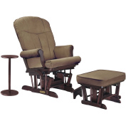 Shermag Glider Recliner w/multiposition lock, ottoman & coffee table - Cherry/Bella Coffee
