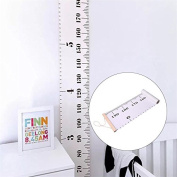 Baby Height Growth Chart, Roll Up Wall Hanging Rulers Wood Frame Fabric Ruler Room Decor for Record Child' s Height