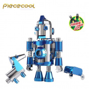 Piececool 3D Metal Puzzle The Travel Of Hello Cool + Dog Model Kits P064-BS DIY 3D Laser Cut Assemble Jigsaw Toys With Tools set