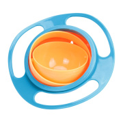 Baby Kids Infant Feeding Dishes Gyro Bowl Universal 360. Rotate Spill-Proof Bowl