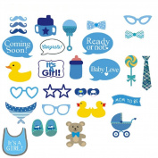 Veewon Baby Photo Booth Props Kits on Sticks,Bear Pacifier Swimwear Eetc.