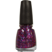 China Glaze Nail Lacquer with Hardeners, Be Merry Be, 15ml