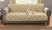 South Bay Sofa Embroidery Pet Protector with Silicone Backing