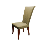 Linen Store Basket Weave Texture Dining Chair Cover, Stretch Form Fitting Fabric Parson Chair Slipcover