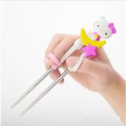 Hello Kitty Children Learning Training Chopsticks