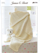JB174 Baby Hooded Blanket One Size