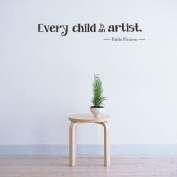 Topker Every Child Is An Artist Wall Stickers Vinyl Removable Kids Bedroom Wall Decals