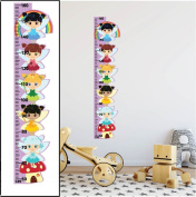 Fairies Height Growth Chart Wall Stickers 01 Children Bedroom Decor Art Decals - REMOVABLE Vinyl Nursery Kids Room Wall Art Printed Stickers Home Décor Kindergarten Wall Decoration