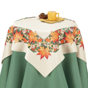 Decorative Fall Leaves Table Linens, Square, Multi