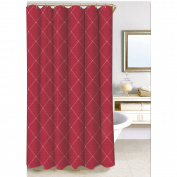 Homewear Wellington Shower Curtain Collection, Wine