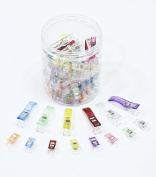 ALL in ONE 100pcs Mixed Colour Multipurpose Sewing Clips with Box for Sewing, Quilting, Crocheting, Crafting and Knitting Safety Clips