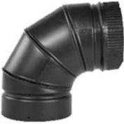 Selkirk DSP7E9-1 Stove Pipe Elbow, 18cm , 90 deg, Stainless Steel, Black