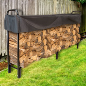 Pure Garden 2.4m Firewood Log Rack with Cover