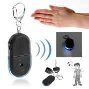 Anti-Lost Alarm Key Finder Useful Whistle LED Light Locator Finder Keychain