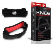 Bionix 2-Pack Premium Patella Knee Tendon Support Strap - Adjustable Straps & Silicone Pad Helps with Osgood Schlatter's Disease, Patellar Tracking, Jumpers Knee, Tendonitis, Running Injuries Brace Medical Grade Band