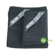 Norwex Antibacterial, Antimicrobial, Microfiber Kitchen Cloth & Kitchen Towel Set with BacLock in Charcoal