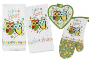 Owl Kitchen Linens Set