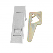 Unique Bargains Silver Tone Push Button Cabinet Lock Latch w Flat Cam