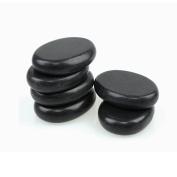Romonacr 6Pcs Professional Massage Hot Stone Set Natural Lava Heated Stones Basalt Warmer Rock for Spa, Massage Therapy