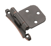 Amerock Hinge 1.9cm H X 5.1cm W X 5.1cm - 1.9cm L Face Mount Self-Closing Oil Rubbed Bronze Card 2