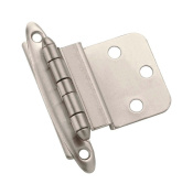 Amerock Hinge 1cm H X 5.1cm - 1cm W X 5.1cm - 1.6cm L Face Mount Non Self-Closing Satin Nickel Finish Card 2