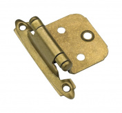 Amerock Hinge 5.1cm - 1.9cm H X 5.1cm - 0.3cm W X 1.7cm D Face Mount Self-Closing Burnished Brass Card 2