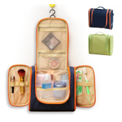 WildGrow Travel Multi Compartment Hanging Toiletry Bag Kits for Men, Women